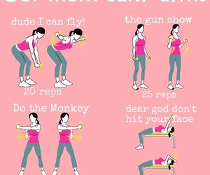 arms, exercise, and fit image