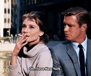new york, love, and audrey hepburn image