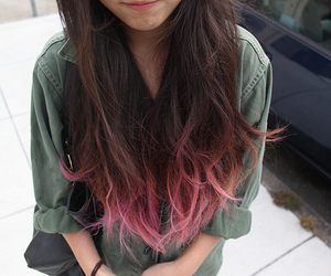 pink highlights and fashion style girl hairs image