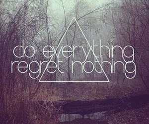 quote, everything, and regret image