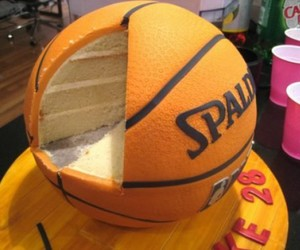 cake, Basketball, and food image