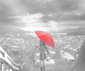anime, umbrella, and manga image