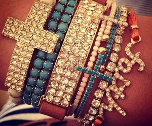 bracelet, faith, and cross image