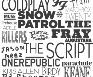 coldplay, the script, and music image