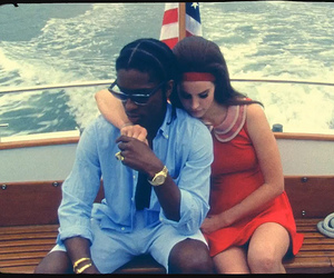 lana del rey, national anthem, and asap rocky image