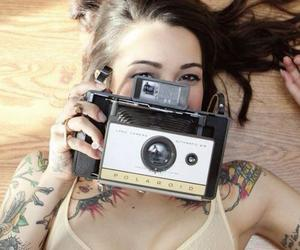 tattoo, girl, and camera image