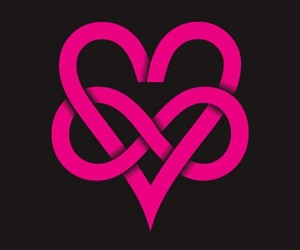 love, infinity, and pink image
