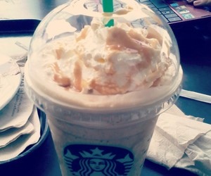 caramel, delicious, and starbucks image