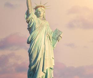 new york, usa, and statue of liberty image