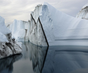 ice, nature, and sea image