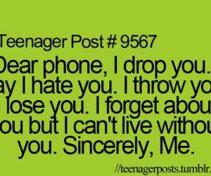 dubtrackfm, phone, and teenager image