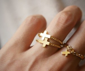 fashion, cross, and gold image