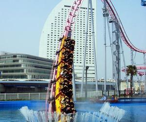 water, fun, and Roller Coaster image