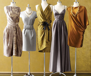 bridesmaid, copper, and dresses image