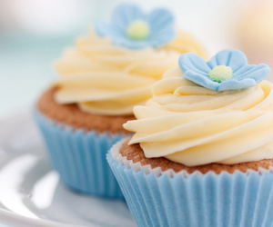 cupcake, blue, and sweet image