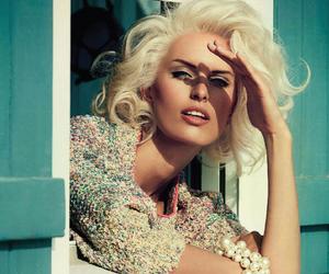 model, Karolina Kurkova, and vogue image