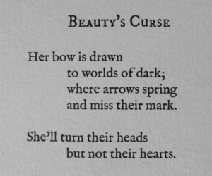 beauty, quote, and curse image