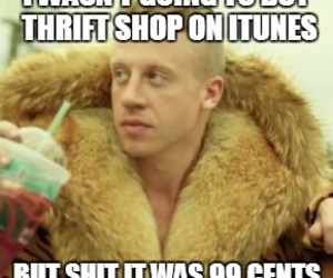 funny, thrift shop, and macklemore image