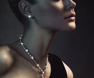 beauty, diamonds, and earrings image