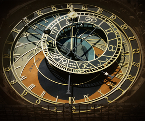 antique, astronomical, and clock image