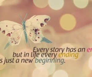 quotes, butterfly, and ending image