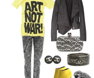chanel, fashion, and yellow image