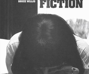 pulp fiction, uma thurman, and black and white image
