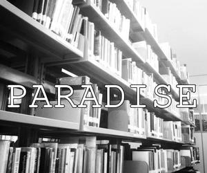b&w, black and white, and books image