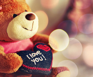 love, bear, and I Love You image