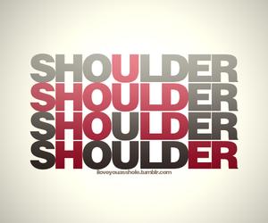 shoulder, hold, and her image