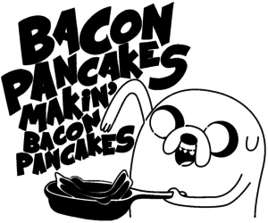 JAKe, pancakes, and adventure time image