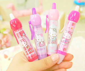 hello kitty and pen image