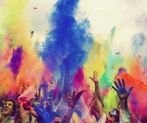 beauty, color run, and colors image