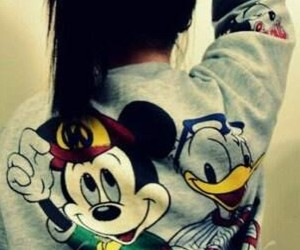 disney, hair, and mickey mouse image