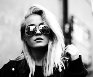 girl, black and white, and fashion image
