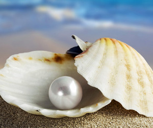 pearls, beach, and sand image