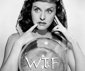 black and white, crystal ball, and wtf image