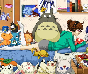 anime, Otaku, and totoro image