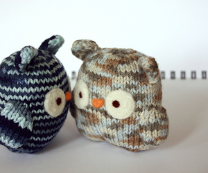 knit, knitting, and owls image