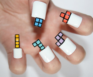 nails, tetris, and cool image