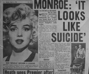 Marilyn Monroe, suicide, and marilyn image