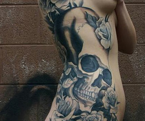 body modification, girl, and roses image