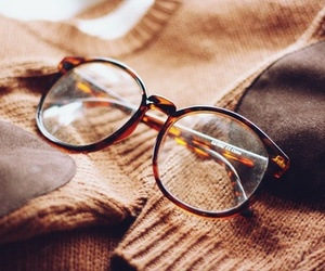 glasses, vintage, and brown image