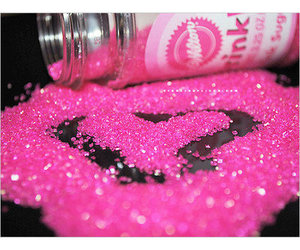 glitter, pink, and love image