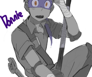 donatello, tmnt, and turtles as humans image