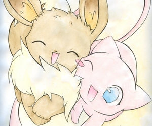pokemon, eevee, and mew image