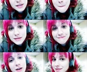 hayley williams, paramore, and pink hair image