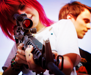 hayley williams, paramore, and gun image