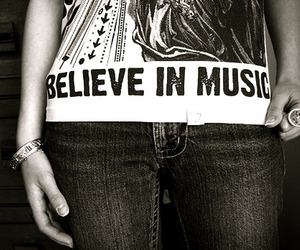music, believe, and black and white image