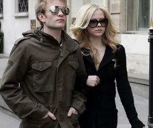 Avril Lavigne, black, and blonde image